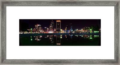 Jacksonville Panoramic Framed Print