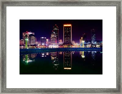 Jacksonville Reflects Framed Print by Frozen in Time Fine Art Photography
