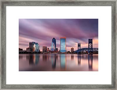 Jacksonville Skyline Long Exopsure Framed Print by Chris Moore
