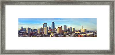 Jacksonville Skyline Morning Day Color Panorama Florida Framed Print by Jon Holiday