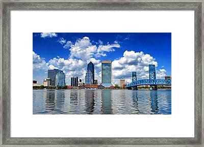 Jacksonville Skyline Framed Print by Mountain Dreams