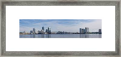 Jacksonville Skyline Panoramic Framed Print