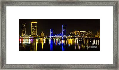 Framed Print featuring the photograph Jacksonville Skyline by Paula Porterfield-Izzo