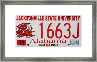 Jacksonville State University Framed Print by Lanjee Chee