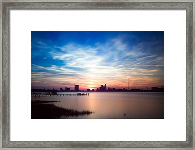 Jacksonville Sunset In May 2014 Framed Print by Jeff Turpin