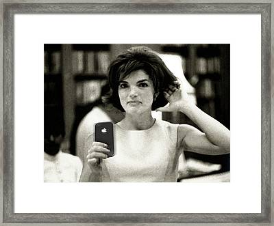Jacky Kennedy Takes A Selfie Framed Print by Tony Rubino