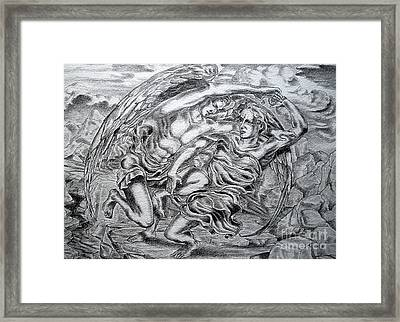 Jacob And The Angel Framed Print