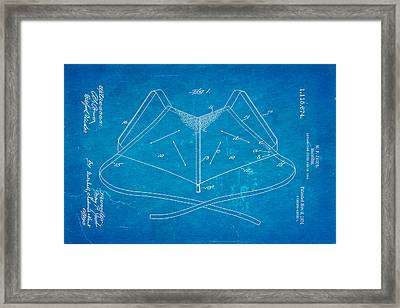 Jacob Brassiere Patent Art 1914 Blueprint Framed Print by Ian Monk