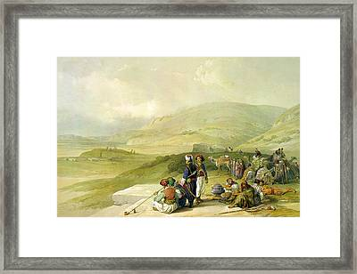 Jacob Well At Nablus  Framed Print