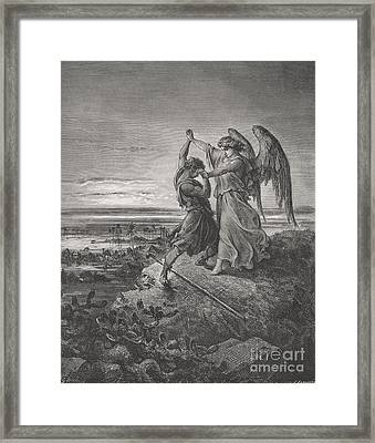 Jacob Wrestling With The Angel Framed Print