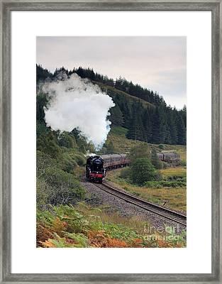 Jacobite Steam Train Framed Print by Maria Gaellman