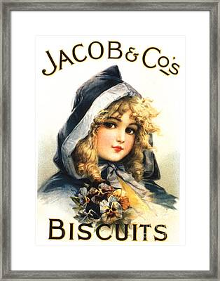 Jacob�s 1890s Uk  Biscuits  Warning - Framed Print by The Advertising Archives