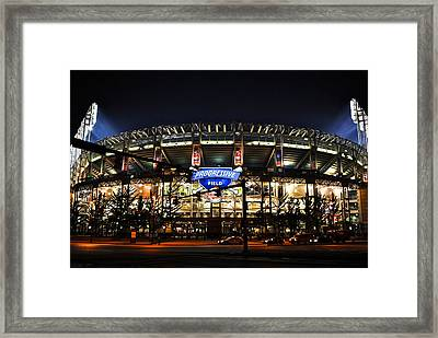 Jacobs Field Framed Print by Frozen in Time Fine Art Photography