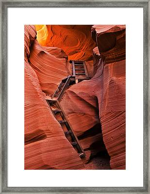 Jacob's Ladder Framed Print by Mike  Dawson