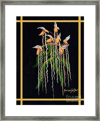 Jacob's Ladder Slipper Orchid Framed Print by Barbara Griffin