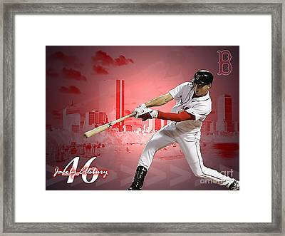 Jacoby Ellsbury Framed Print by Marvin Blaine