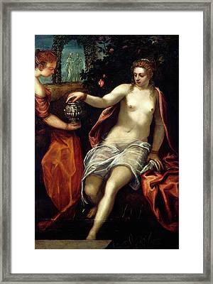 Jacopo Tintoretto, Susanna, Italian, 1518-1594 Framed Print