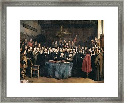 Jacquand, Claude 1840-1878. Congress Framed Print by Everett
