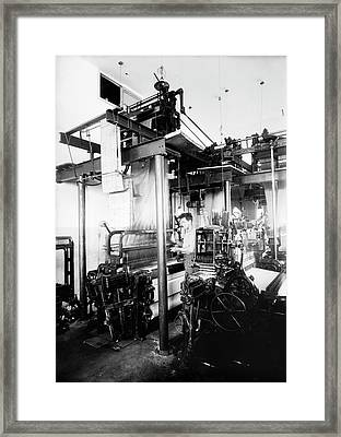 Jacquard Loom In Palestine Framed Print by Library Of Congress