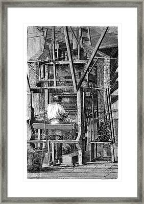 Jacquard Loom Framed Print by Science Photo Library