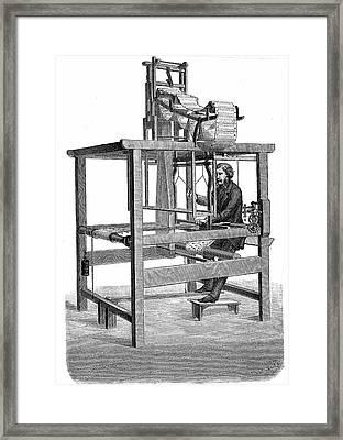 Jacquard Loom Framed Print