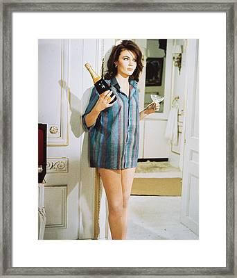 Jacqueline Bisset In Bullitt  Framed Print by Silver Screen