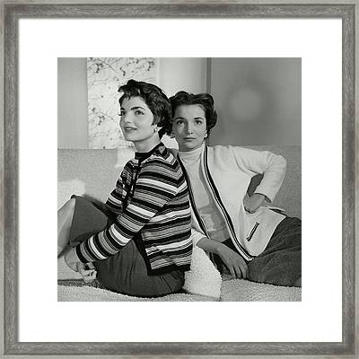 Jacqueline Kennedy And Lee Canfield Framed Print