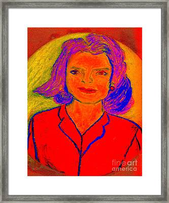 Jacqueline Kennedy Dallas Framed Print by Richard W Linford