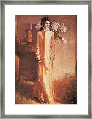 Jacqueline Kennedy, First Lady Framed Print