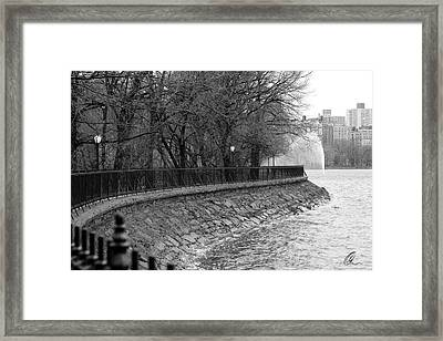 Jacqueline Kennedy Onassis Reservoir Ny Framed Print by Chris Thomas