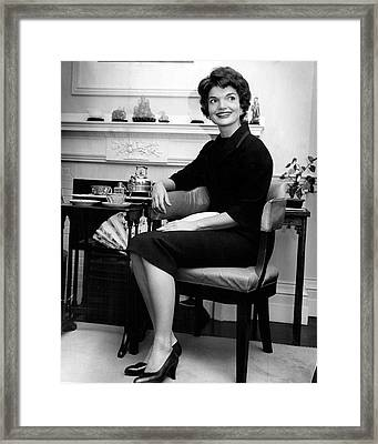 Jacqueline Kennedy Sitting Pretty Framed Print