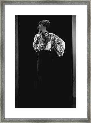 Jacqueline Quesnel Wearing Lanvin Framed Print by Horst P. Horst