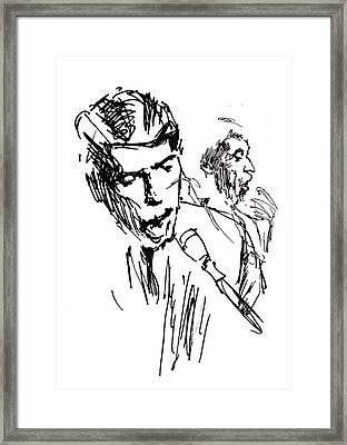 Jacques Brel Framed Print