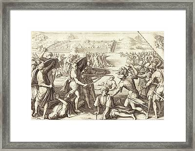 Jacques Callot French, 1592 - 1635, Assault On The Outer Framed Print by Quint Lox