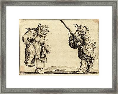 Jacques Callot French, 1592 - 1635, Dancers With Lute Framed Print by Quint Lox