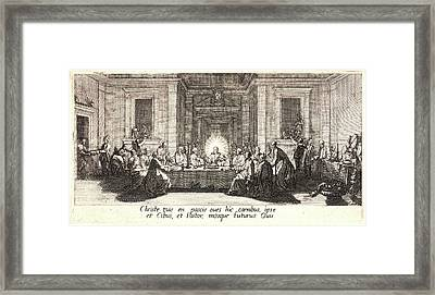 Jacques Callot French, 1592 - 1635. Last Supper La Céne Framed Print