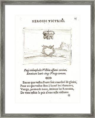 Jacques Callot French, 1592 - 1635. Les Deux Couronnes Framed Print by Litz Collection