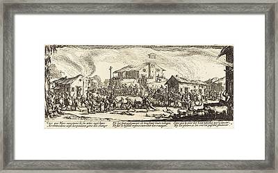 Jacques Callot French, 1592 - 1635, Plundering And Burning Framed Print by Quint Lox