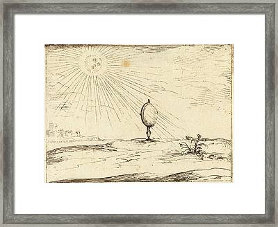 Jacques Callot French, 1592 - 1635, Rays Of The Sun Framed Print