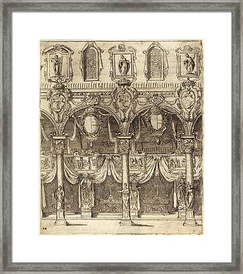 Jacques Callot, French 1592-1635, Side Aisle Of San Lorenzo Framed Print by Litz Collection