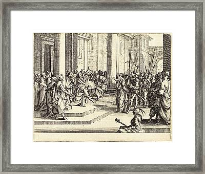 Jacques Callot French, 1592 - 1635, Stoning Of Jesus Framed Print by Quint Lox