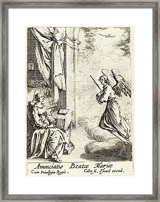Jacques Callot French, 1592 - 1635, The Annunciation Framed Print by Quint Lox