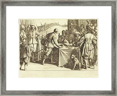 Jacques Callot French, 1592 - 1635, The Hiring Of The Troops Framed Print by Quint Lox