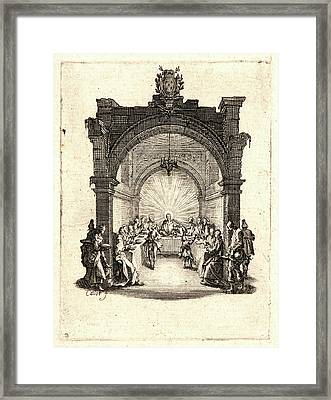 Jacques Callot French, 1592 - 1635. The Last Supper La Cène Framed Print