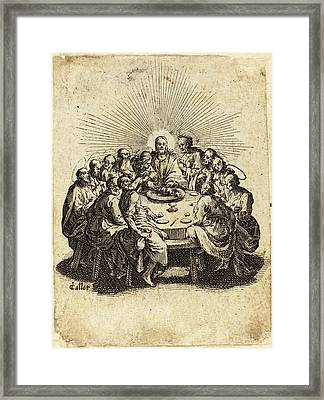 Jacques Callot French, 1592 - 1635, The Last Supper Framed Print
