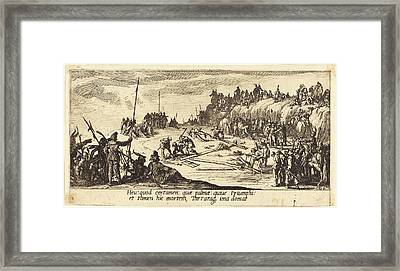 Jacques Callot French, 1592 - 1635, The Nailing To The Cross Framed Print by Quint Lox