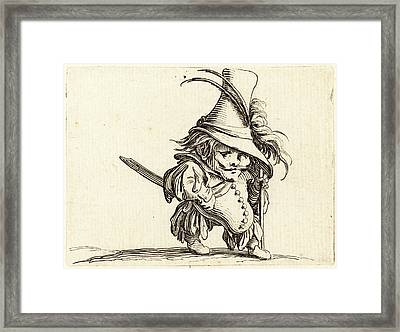Jacques Callot, French 1592-1635, The Potbellied Man Framed Print