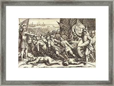 Jacques Callot, French 1592-1635, The Re-embarkation Framed Print by Litz Collection