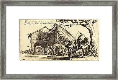 Jacques Callot, French 1592-1635, The Stopping Place Framed Print by Litz Collection