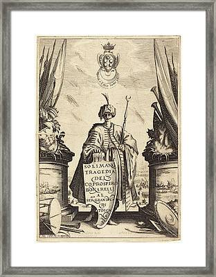 Jacques Callot French, 1592 - 1635, Title Page For Il Framed Print by Quint Lox